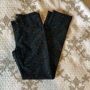 { zara } paisley print pants